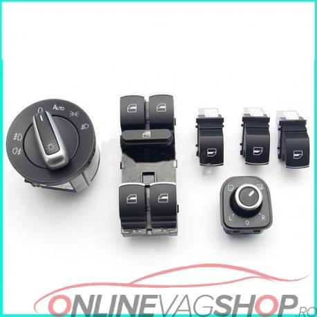Set bloc lumini,geamuri ornament crom OEM pt gama Volkswagen