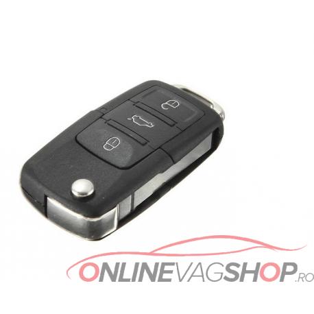 Carcasa cheie briceag cu logo VW ,SKODA, SEAT 3 butoane