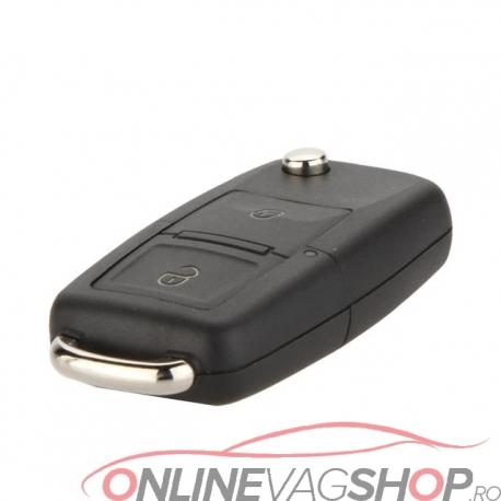 Carcasa cheie briceag cu logo VW si 2 butoane