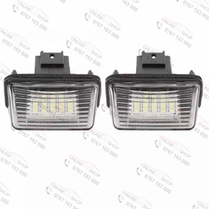 Set lampi LED numar PEUGEOT 206, 207, 306, 307, 308, 406, 407,5008, Partner
