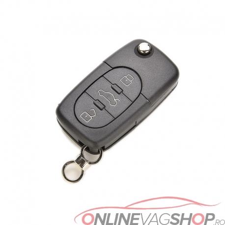 Carcasa cheie briceag cu logo Audi 3 butoane
