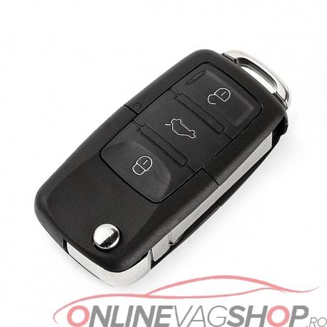 Carcasa cheie briceag Volkswagen cu 3 Butoane +buton Panica