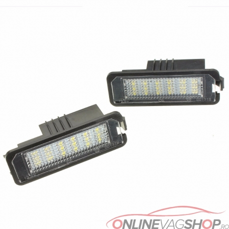 Set Lampi Led numar Golf 6, Passat B7 4D, Passat CC, Phaeton, Scirocco