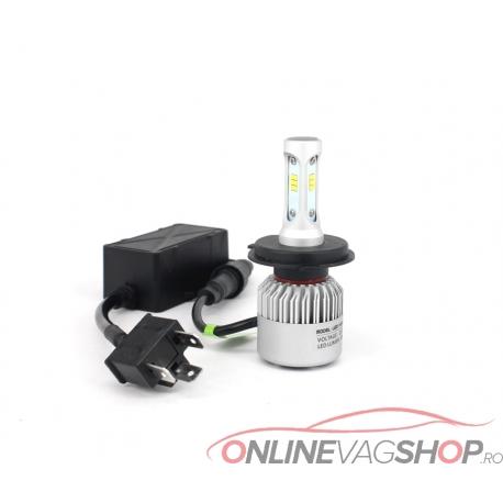 Set becuri tehnologie LED- H1 H4 H7 6500K  8000LM Canbus
