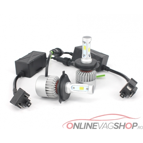 Set becuri LED H1,H4,H7,H8,H11,HB3,HB4 ,8000Lumeni Canbus