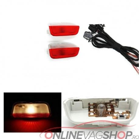 Set  lampi lumina rosie/alba avertizare usi deschise VW Golf 5, Golf 6, Passat B6, Passat CC
