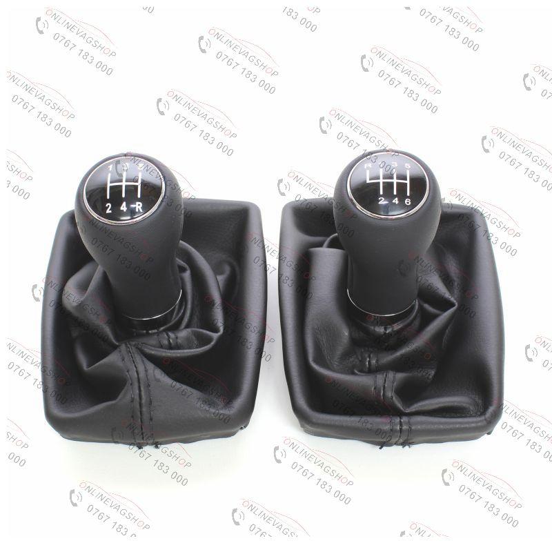 Nuca piele + manson schimbator Audi A4 B6, Audi A4 B7 5 sau 6 viteze