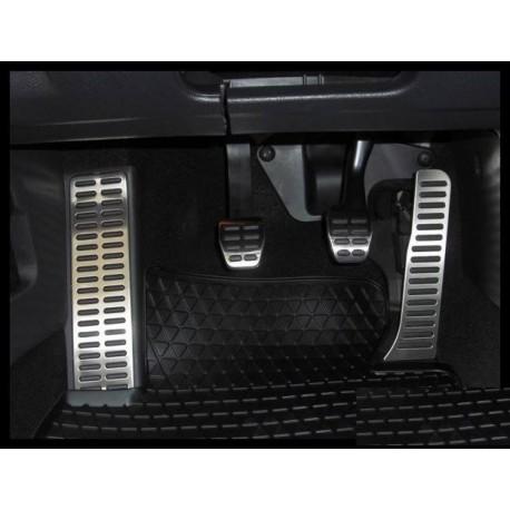 Set Pedale Inox + Footrest pentru VW Golf/Jetta/Tiguan