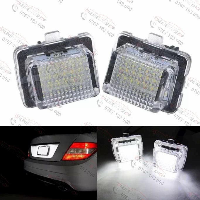 Set lampi LED numar MERCEDES BENZ W204, W204 Wagon W212, W221, C216, C207