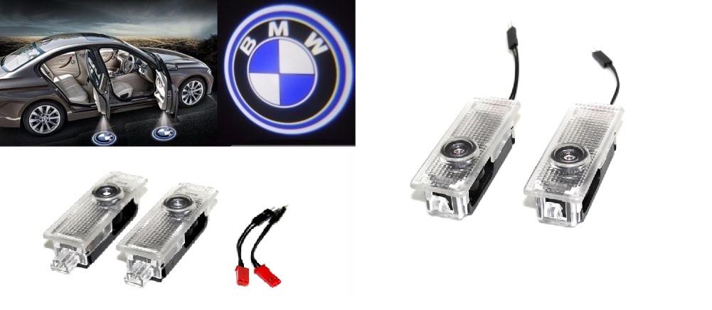 Lampi dedicate cu logo BMW pentru portiere BMW E90 E60 F10 F15 F30, F34, F32, E70