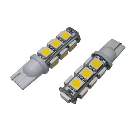 Set 2 led-uri t10 (w5w) 13smd 5050 pozitie