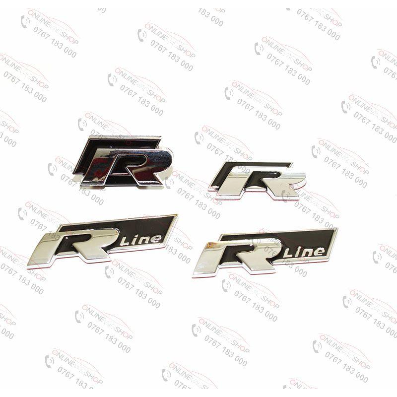 Embleme R-line set 4 buc Volkswagen Passat, Golf, Tiguan, Scirocco