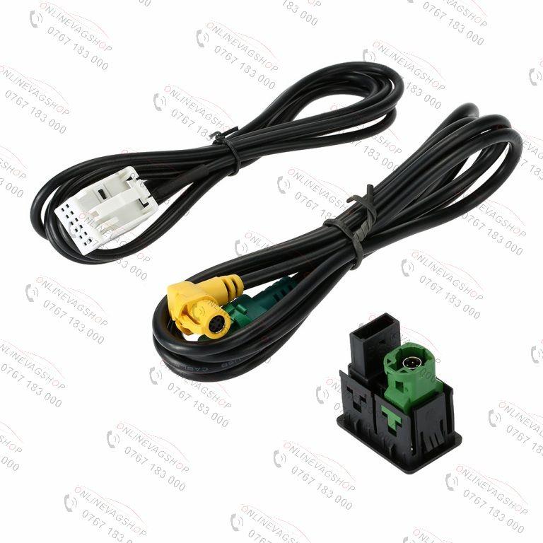 Cablu auxiliar AUX / USB Volkswagen Passat B6 B7 CC Touran Polo
