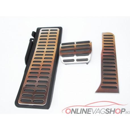 Set Pedale Inox AUTO/DSG pentru VW Golf/Jetta/Tiguan