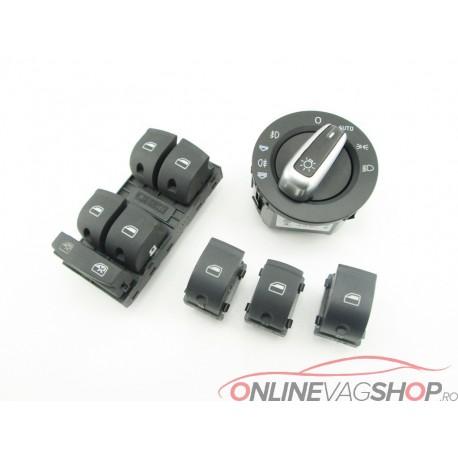 Set buton lumini si geamuri electrice Audi A6 4F